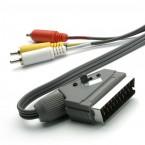 SCART / 3xCINCH kábel Vivanco 2m