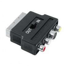 SCART redukcia 122238 - 3 cinch AV + S-video zásuvka, IN/OUT