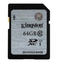 SDHC Kingston 64GB SDXC Class10 UHS-I až 45MB/s (SD10VG2/64GB)