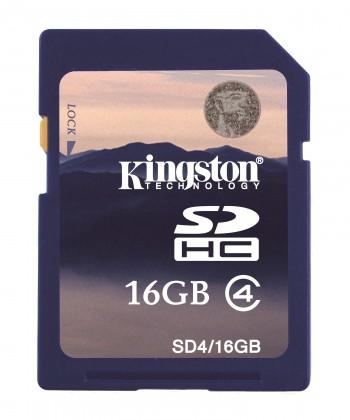 SDHC Kingston SDHC 16GB Class 4 - SD4/16GB