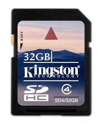 SDHC Kingston SDHC 32GB Class 4 - SD4/32GB