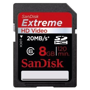SDHC SanDisk SDHC Extreme 8GB UHS-I (SDSDX-008G-X46)