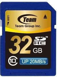 SDHC TEAM 32GB Secure Digital SDHC/ Class 10