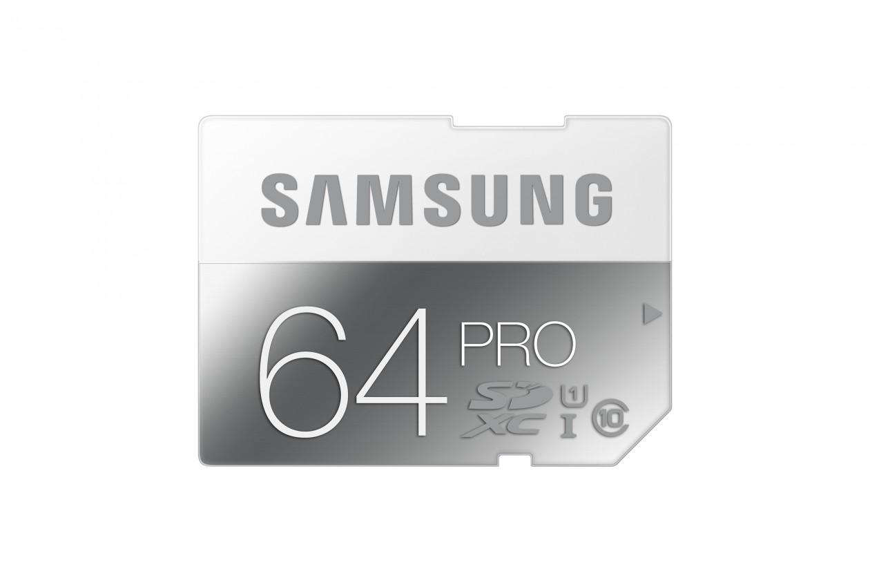 SDXC Samsung SDHC 64GB (class 10) PRO 90 MB/s - (MB-SG64D/EU)
