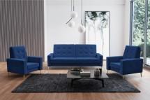 Sedacia súprava Zara 3R+1+1 rozkladacia modrá ÚP