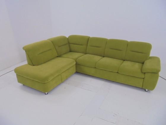 Sedacie súpravy ZLACNENÉ Rohová sedačka Amora (enoa fashion kiwi) - II. akosť