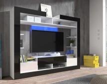 Sek - obývacia stena (biela/čierna/biela)