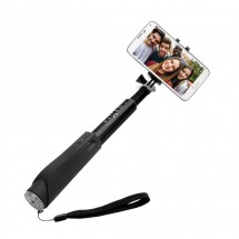 Selfie tyč Fixed sa spúšťou, teleskopická, až 97cm, čierna