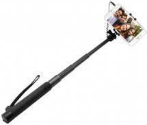 Selfie tyč Fixed SELF STICK, teleskopická, 22-68cm, čierna