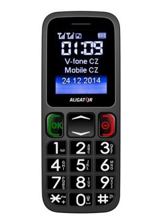 Senior telefón Aligator A320 Senior šedo-čierny ROZBALENÉ