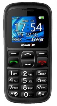 Senior telefón  Aligator A420 Black