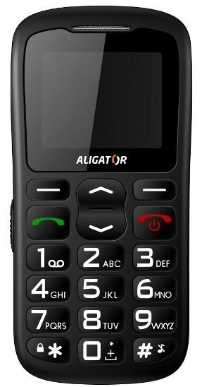 Senior telefón  Aligator A430 Black Orange
