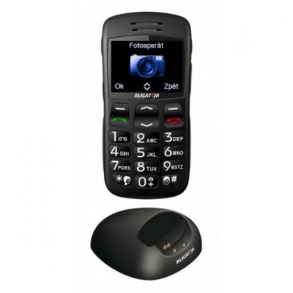 Senior telefón  Aligator A600i Black