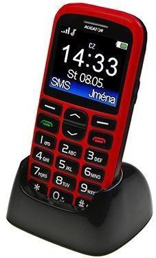 Senior telefón Aligator A680, červený