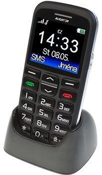Senior telefón Aligator A680, čierna    POUŽITÉ, NEOPOTREBOVANÝ TOVAR