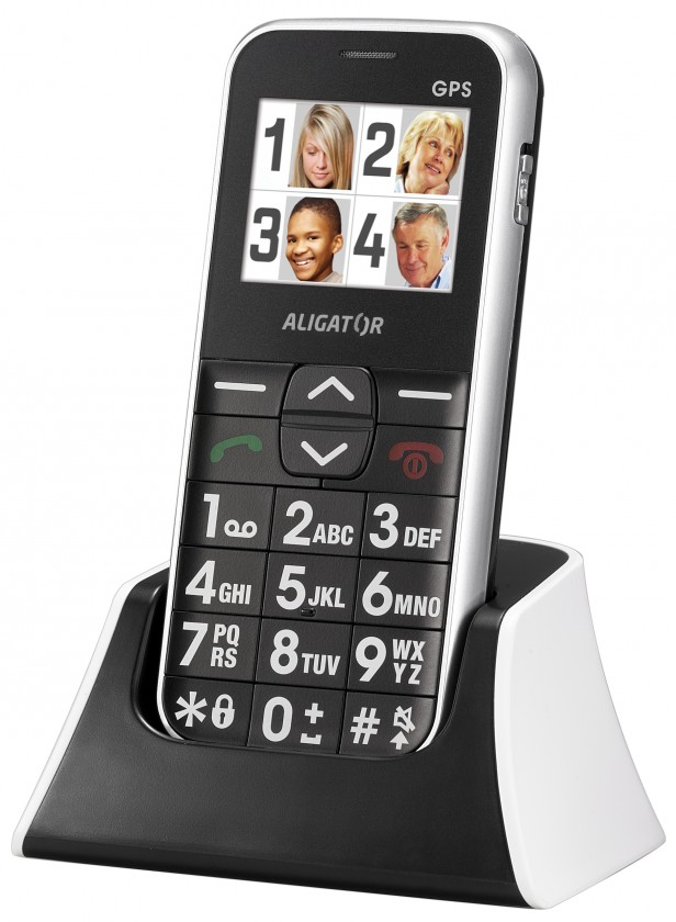 Senior telefón  Aligator C200 Senior White