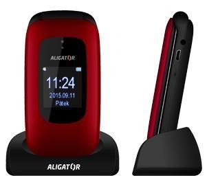 Senior telefón ALIGATOR V600 Senior, červeno-cierny