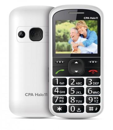 Senior telefón CPA HALO 11, biely ROZBALENÉ