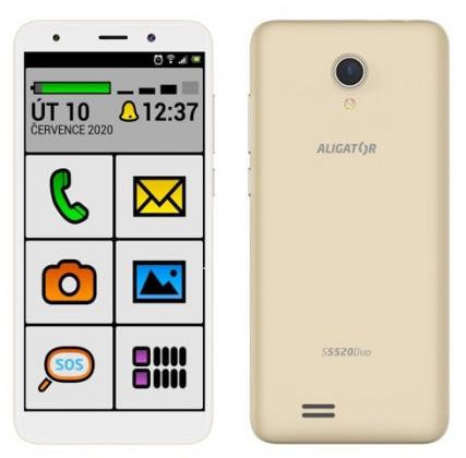 Senior telefón Mobilný telefón Aligator S5520 Senior 1GB/16GB, zlatá