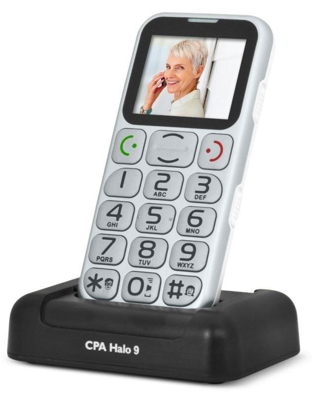Senior telefón myPhone HALO 9 strieborný