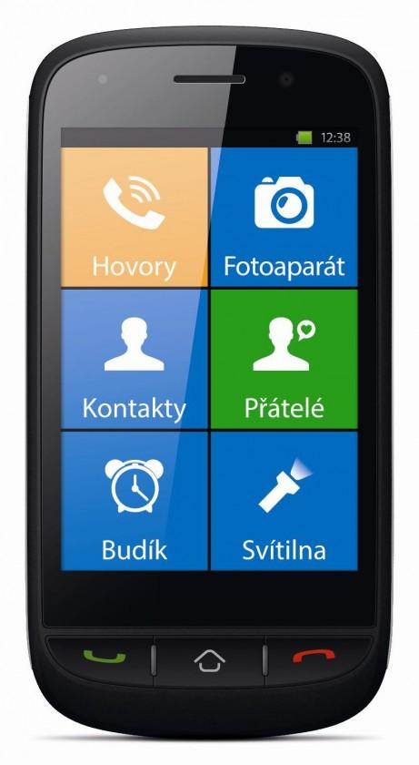 Senior telefón myPhone HALO X černý ROZBALENO