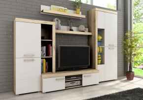 Sergio I - obývacia stena, LED (san remo svetlý/biela)