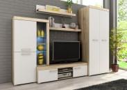Sergio II - obývacia stena, LED (san remo svetlý/biela)