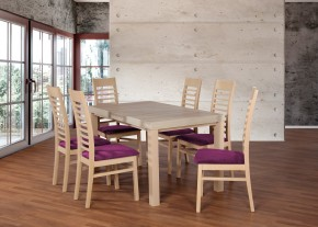 Set 17 - 6x stolička,1x stôl,rozklad (dub sonoma/lana 76)