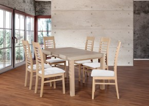 Set 17 - 6x stolička,1x stôl,rozklad (dub sonoma/madryt 120)