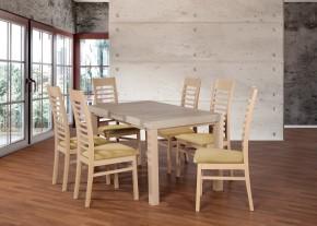 Set 17 - 6x stolička,1x stôl,rozklad (dub sonoma/madryt 123)