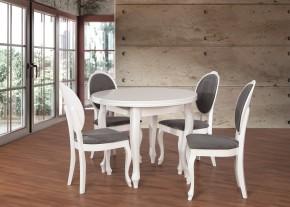 Set 2 - 4x stoličky,stôl,rozklad (dýha dub/cayenne 13/masiv buk)