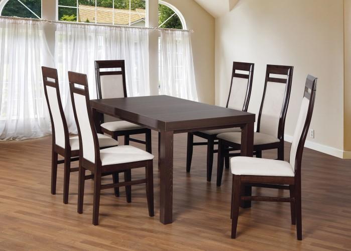 Set 3 - 6x stolička, stôl, rozkladací (wenge/lana 21/buk)