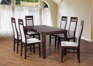 Set 3 - 6x stolička, stôl, rozkladací (wenge/madryt 120/buk)