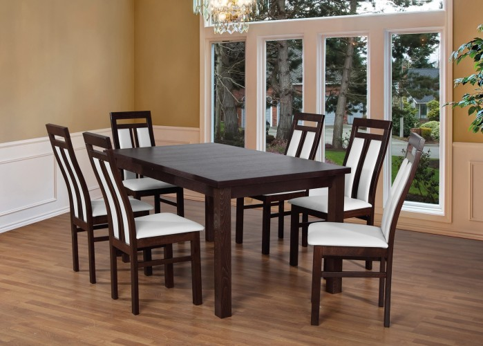 Set 7 - 6x stolička,1x stôl,rozklad (wenge/madryt 120)
