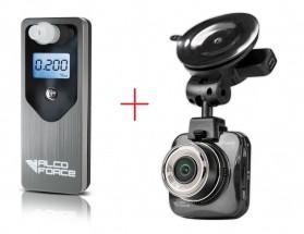 Set alkohol tester AlcoForce Optima + autokamera CarForce A500