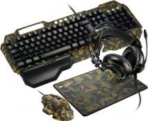 Set Canyon Argama, klávesnica+myš+podložka+headset, maskáčová