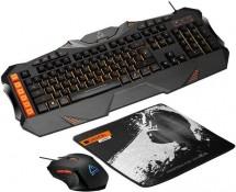 Set Canyon Leonof, myš+podložka+klávesnica, US layout, čierna