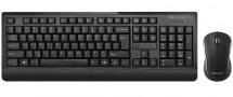 Set Delux K6010, bezdrôtový, myš + klávesnica, čierna