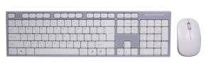 Set EVOLVEO WK-180, klávesnica a myš, bezdrôtový, biely