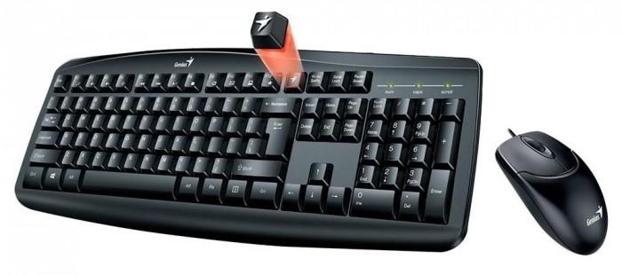 Set Genius Smart KM-200, klávesnica+myš, drôtový, CZ+SK, čierny