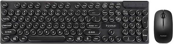 Set klávesnica a myš Set Marvo DCM002WE BK, klávesnica+bezdrôtová myš, US, čierna