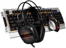 Set Marvo CM303, herné, klávesnica+myš+slúchadlá, CZ/SK, čierna P