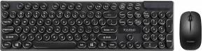 Set Marvo DCM002WE BK, klávesnica+bezdrôtová myš, US, čierna