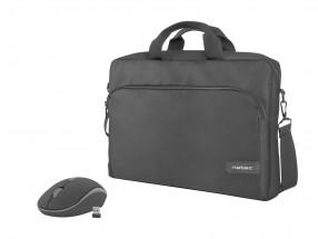 Set Natec Wallaroo taška na notebook 15,6'' + bezdrôtová myš