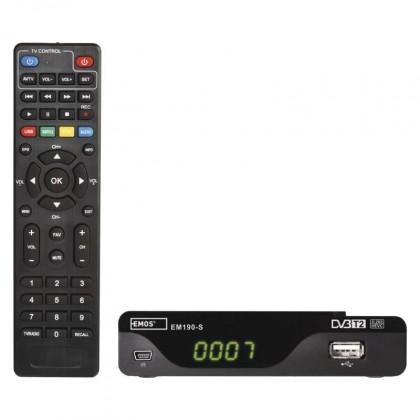 Set-top box EMOS EM190-S HD HEVC H265 (DVB-T2)