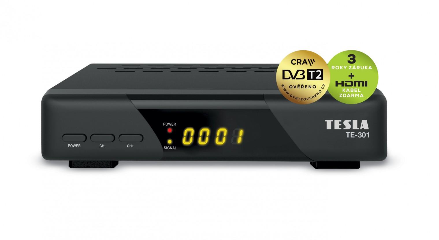 Set-top box TESLA TE-301 DVB-T2 prijímač H.265 (HEVC)