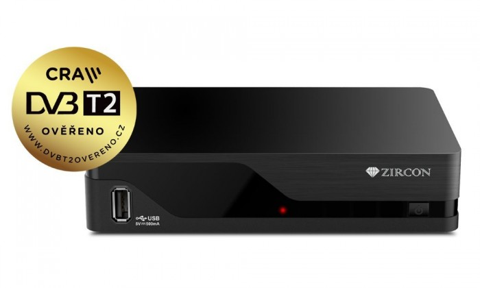Set-top box Zircon AIR T2 + WIFI USB ANTÉNA
