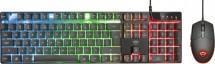 Set Trust GXT 838 Azor, drôtový, farebné podsvietenie, čierna