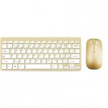 Set WG klávesnica + myš, bluetooth, zlatá POUŽITÉ, NEOPOTREBOVANÝ