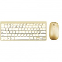 Set WG klávesnica + myš, bluetooth, zlatá